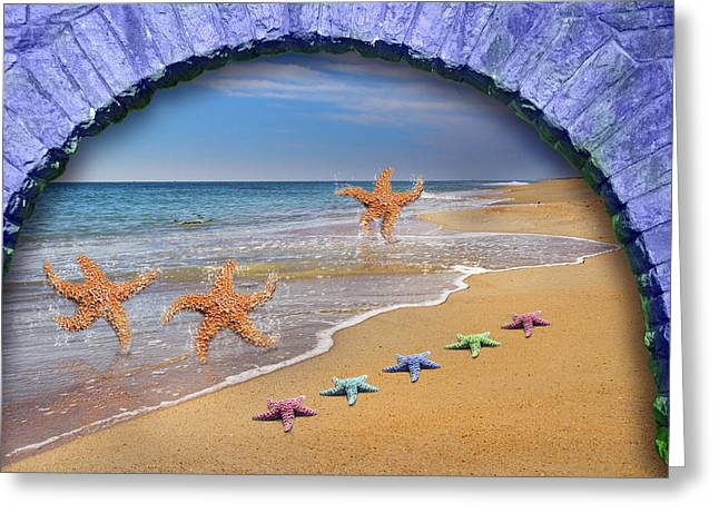 Seastar Greeting Cards - Tunnel Vision  Greeting Card by Betsy A  Cutler
