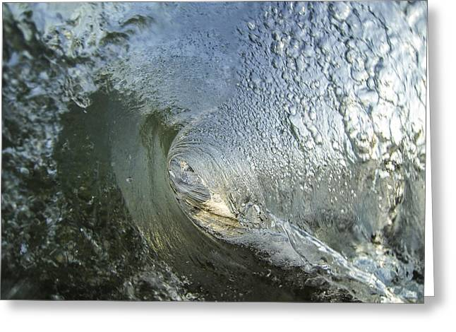Shorebreak Greeting Cards - Tunnel Vision Greeting Card by Brad Scott