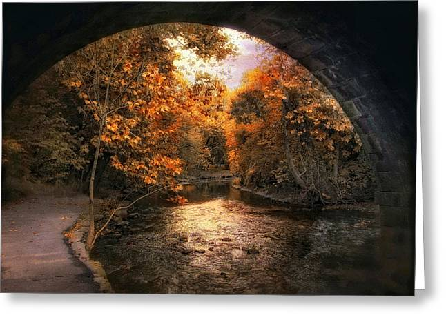Tunnel Vision Greeting Card by Jessica Jenney