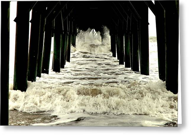 Best Sellers -  - Surf City Greeting Cards - Tunnel Vision Greeting Card by Karen Wiles