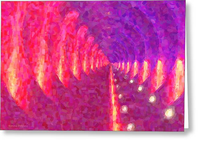 Tunnel Vision Greeting Card by Kenny Francis