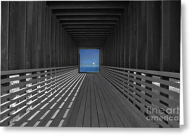 Wooden Platform Greeting Cards - Tunnel Vision Greeting Card by Lynne Sutherland