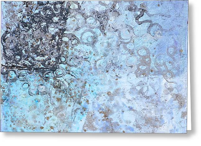 Technical Paintings Greeting Cards - Tunneling Regime Greeting Card by Regina Valluzzi
