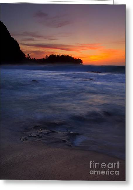 Tunnels Greeting Cards - Tunnels Beach Dusk Greeting Card by Mike  Dawson
