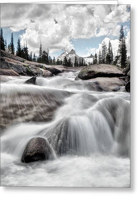 Cathedral Rock Greeting Cards - Tuolumne River and Unicorn Peak Greeting Card by Chris Frost