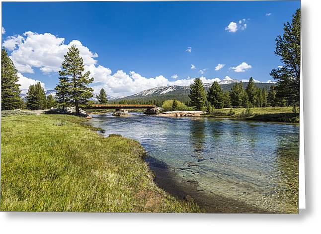 Paradise Meadow Greeting Cards - Tuolumne River Greeting Card by Joseph S Giacalone