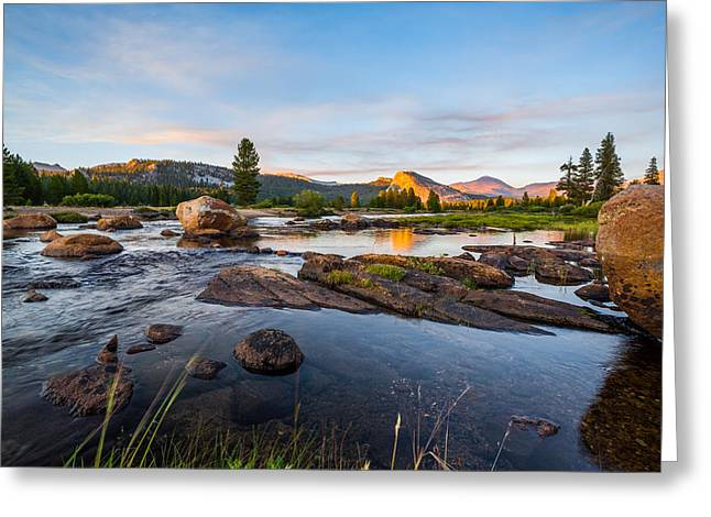 Mike Lee Greeting Cards - Tuolumne River Greeting Card by Mike Lee