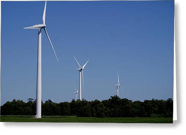 Generators Greeting Cards - Turbines Greeting Card by John Turner