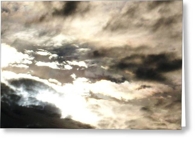 Turbulent Skies Greeting Cards - Turbulence in the Sky Greeting Card by Belinda Lee