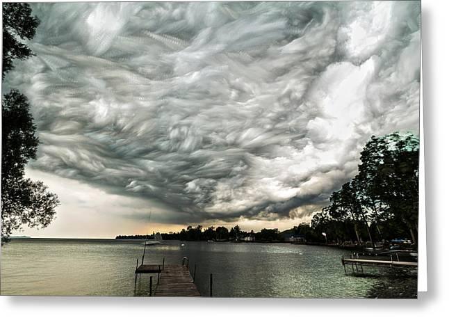 Storm Clouds Digital Greeting Cards - Turbulent Airflow Greeting Card by Matt Molloy