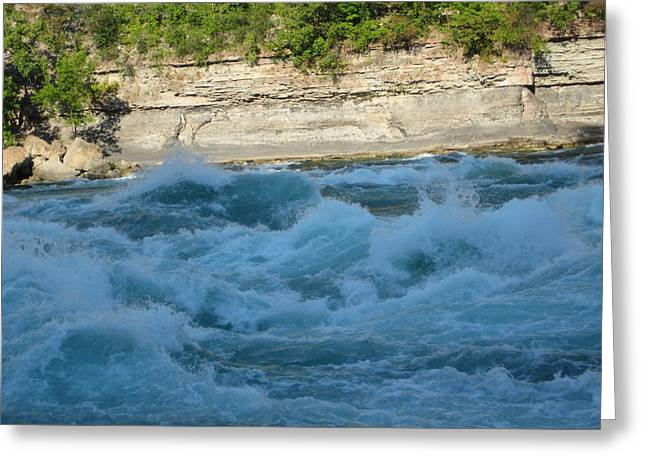 Niagara River Greeting Cards - Turbulent Waters Greeting Card by Brandie Marshall
