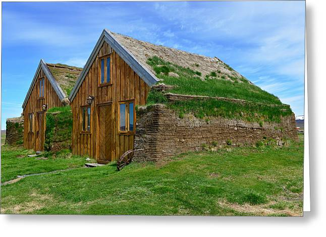 Modrudalur Greeting Cards - Turf Houses at Modrudalur Greeting Card by Jeffrey Hamilton