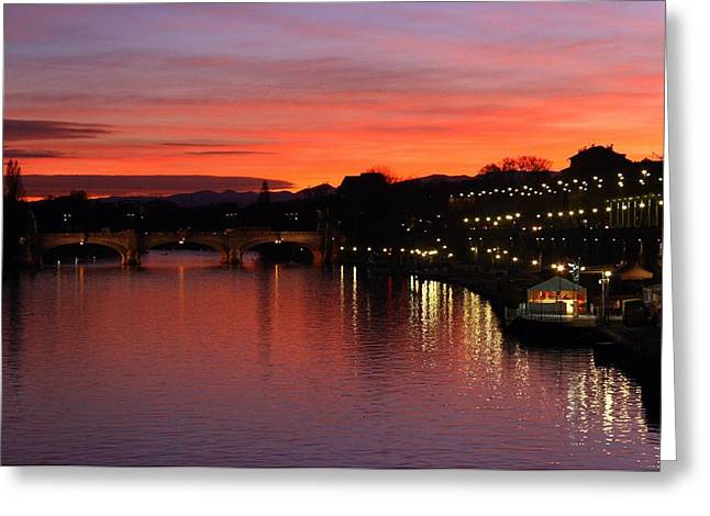 Luci Greeting Cards - Turin the olympic city 17 Greeting Card by Stefano Barni