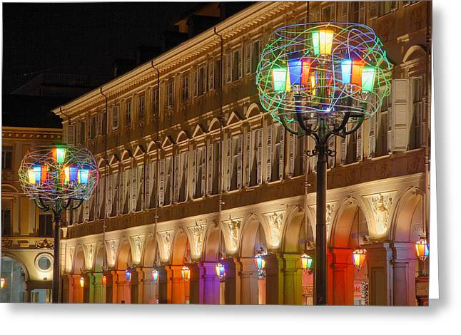 Luci Greeting Cards - Turin the olympic city 6 Greeting Card by Stefano Barni