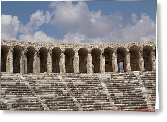Turkey, Aspendos Greeting Card by Emily Wilson