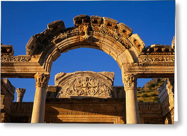 Turkey, Ephesus, Temple Ruins Greeting Card by Panoramic Images
