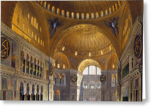 TURKEY: HAGIA SOPIA, 1852 Greeting Card by Granger