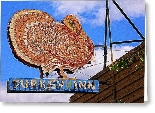 Turkey Inn Greeting Card by Ron Regalado