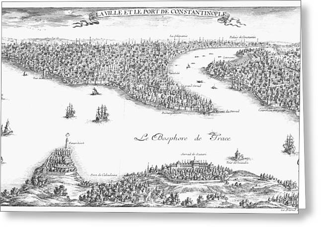 TURKEY: ISTANBUL, 1680 Greeting Card by Granger