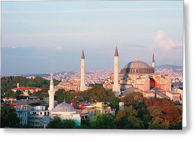 Hagia Sophia Greeting Cards - Turkey, Istanbul, Hagia Sofia Greeting Card by Panoramic Images