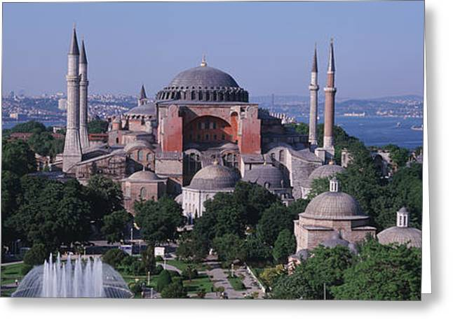 Turkey, Istanbul, Hagia Sophia Greeting Card by Panoramic Images