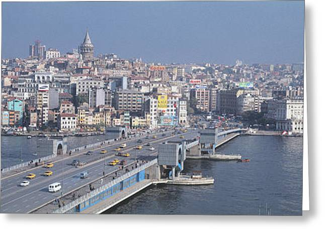 Istanbul Greeting Cards - Turkey, Istanbul, Skyline Greeting Card by Panoramic Images