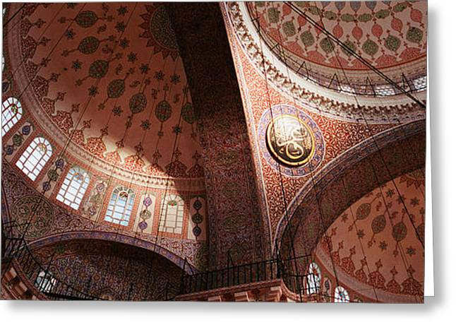 Istanbul Greeting Cards - Turkey, Istanbul, Suleyman Mosque Greeting Card by Panoramic Images