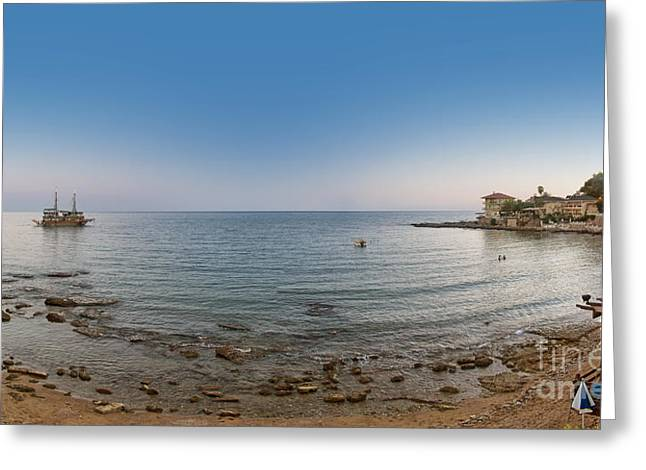 Peaceful Scenery Greeting Cards - Turkey side panorama Greeting Card by Antony McAulay