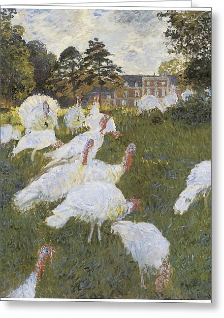 Turkey Greeting Cards - Turkeys Greeting Card by Claude Monet