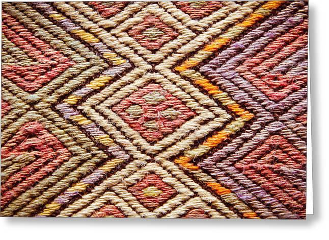 Persian Rug Greeting Cards - Turkish rug Greeting Card by Tom Gowanlock