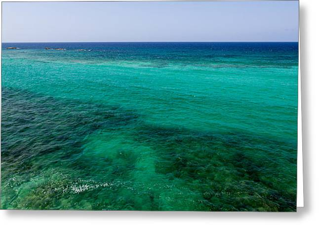 Blue Green Water Greeting Cards - Turks Turquoise Greeting Card by Chad Dutson