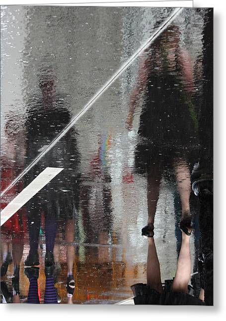Abstract Rain Greeting Cards - Turn Around My Only Greeting Card by Jerry Cordeiro