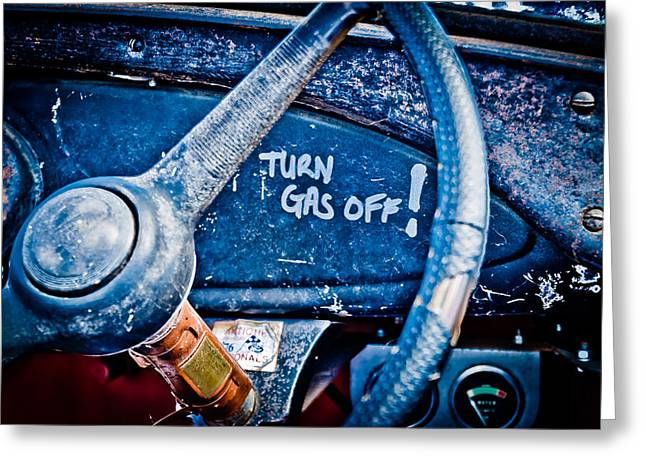 Turn Gas Off Greeting Card by Phil 'motography' Clark