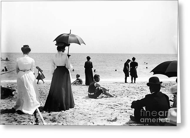 Turn Of The Century Palm Beach Greeting Card by LOC Science Source