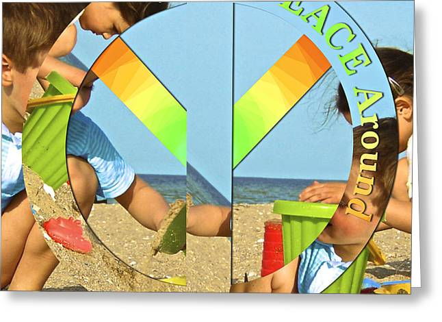 Turn Peace Around 2 Greeting Card by Charlie and Norma Brock
