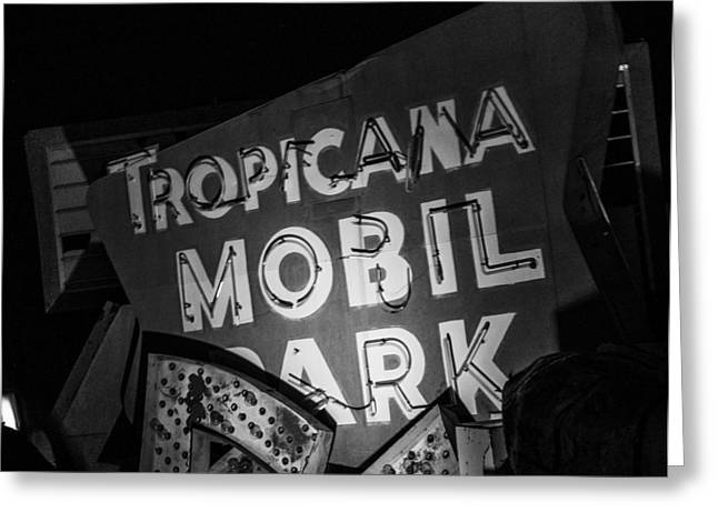 Tropicana Las Vegas Greeting Cards - Turn the RV in here honey Greeting Card by Angus Hooper Iii