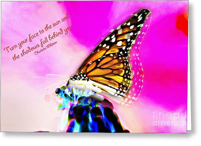 Charlotte Digital Art Greeting Cards - Turn Your Face To The Sun Greeting Card by Nancy E Stein