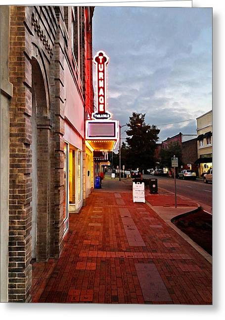 Turnage Theater Grand Opening Greeting Card by Joan Meyland