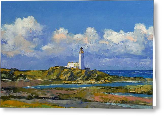 Faro Greeting Cards - Turnberry Lighthouse Greeting Card by Michael Creese