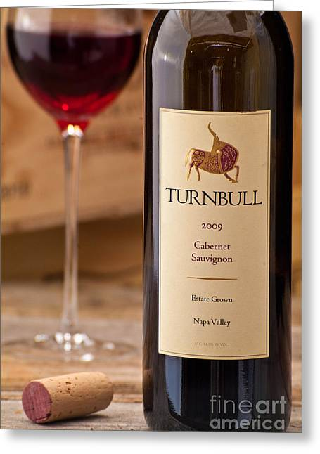 Sauvignon Digital Art Greeting Cards - Turnbull 2009 Cabernet Sauvignon Wine Greeting Card by Corky Willis Atlanta Photography