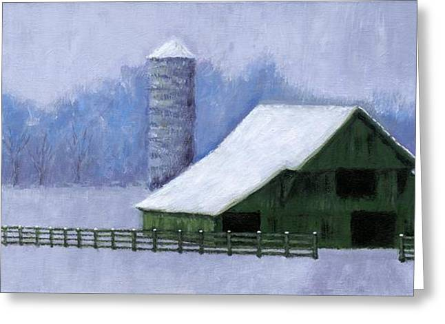Janet King Greeting Cards - Turner Barn in Brentwood Greeting Card by Janet King