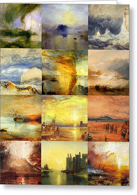 Slave Ship Greeting Cards - Turner Collage Greeting Card by Philip Ralley