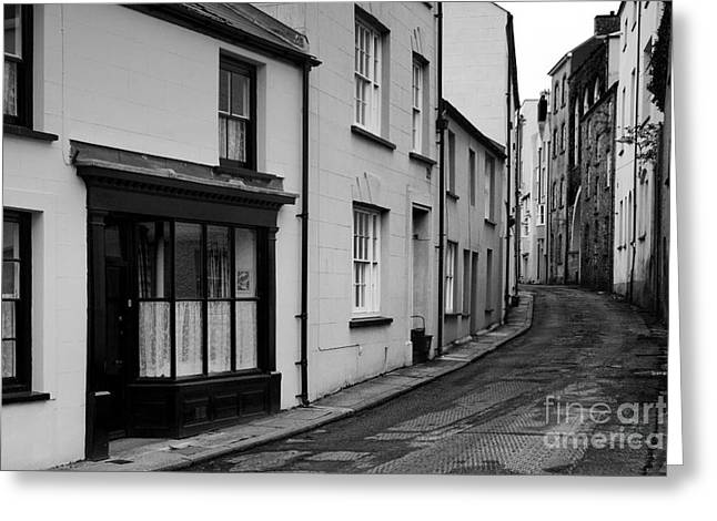 Buildings And Narrow Lanes Greeting Cards - Turning back Greeting Card by Doug Wilton