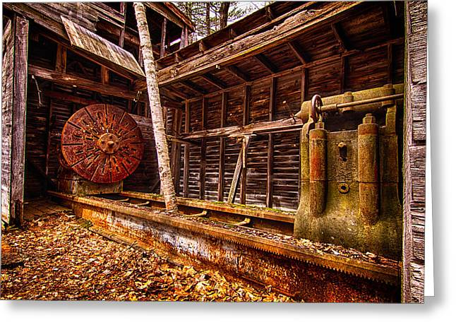 Turning Shed Redstone Quarry Conway Nh Greeting Card by Jeff Sinon