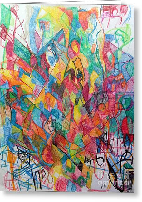 Inner Self Greeting Cards - Turning to See Waiting to Hear Greeting Card by David Baruch Wolk