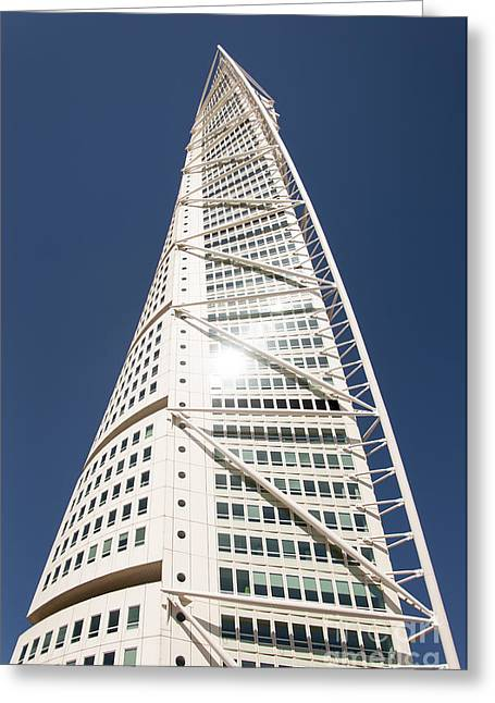 Malmo Greeting Cards - Turning Torso Editorial Greeting Card by Antony McAulay