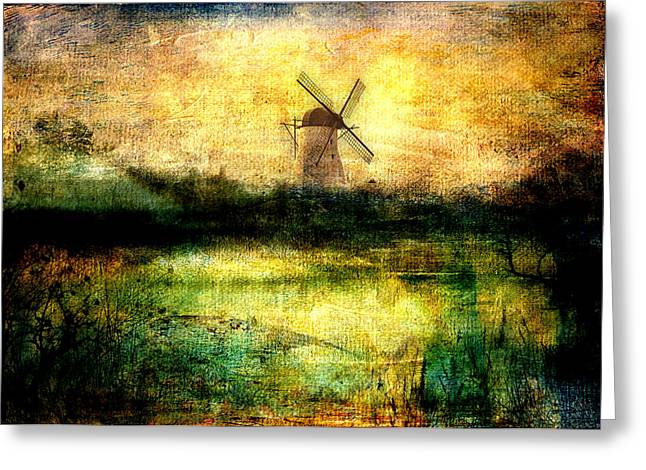 Sarah Vernon Greeting Cards - Turning Windmill Greeting Card by Sarah Vernon