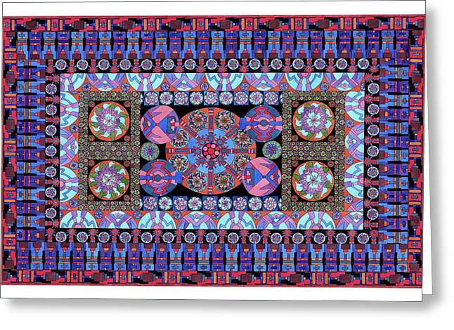 Lawrence Chvotzkin Greeting Cards - Turqoise Tapestry Greeting Card by Lawrence Chvotzkin