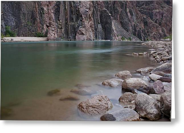 Looking At The Past Greeting Cards - Turquoise Colorado River Greeting Card by Brian Kamprath