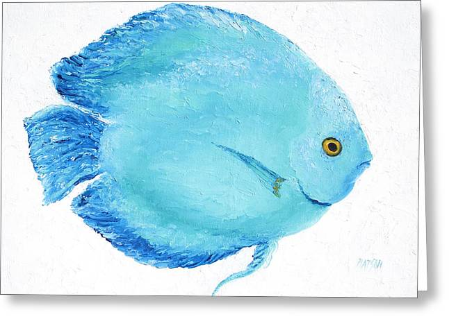 Aquarium Fish Greeting Cards - Turquoise fish Greeting Card by Jan Matson